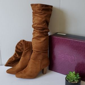 Refresh Brown Knee High Boots